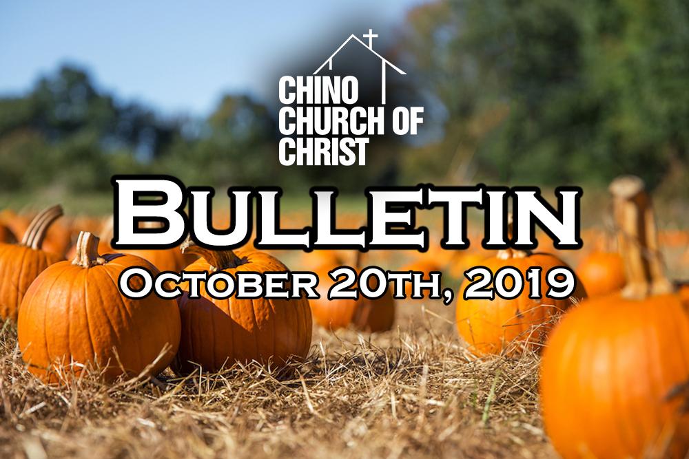Bulletin October 20th, 2019