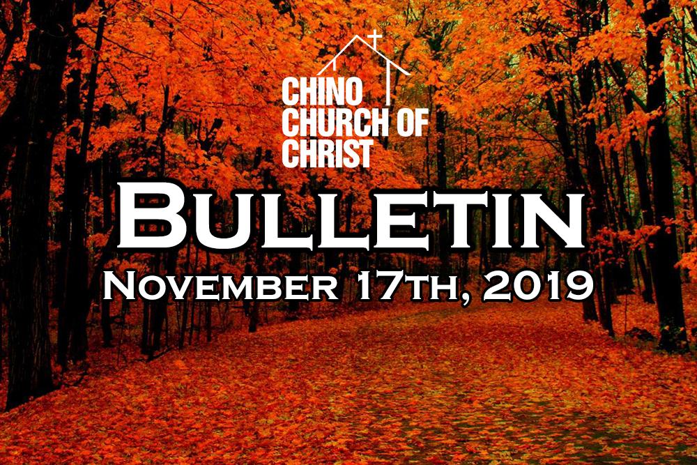 Bulletin November 17th, 2019