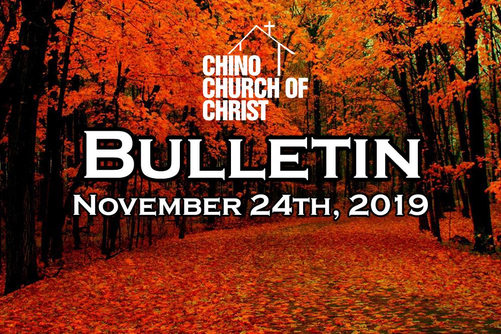 Bulletin November 24th, 2019
