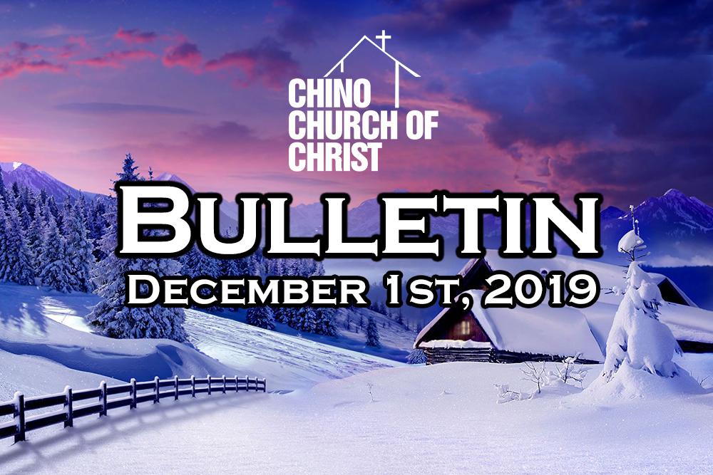 Bulletin December 1st, 2019