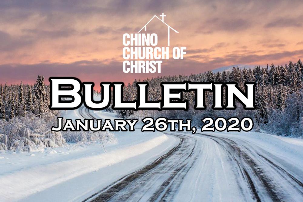 Bulletin – January 26th, 2020