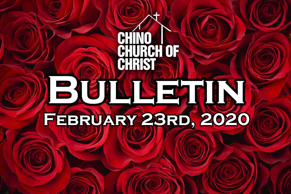 Bulletin – February 23rd, 2020