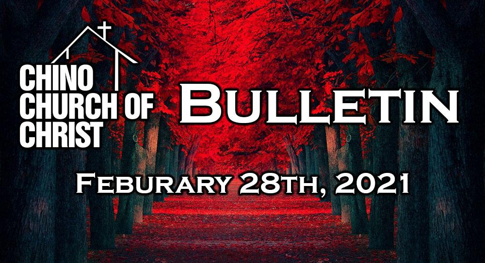 Bulletin – February 28th, 2021