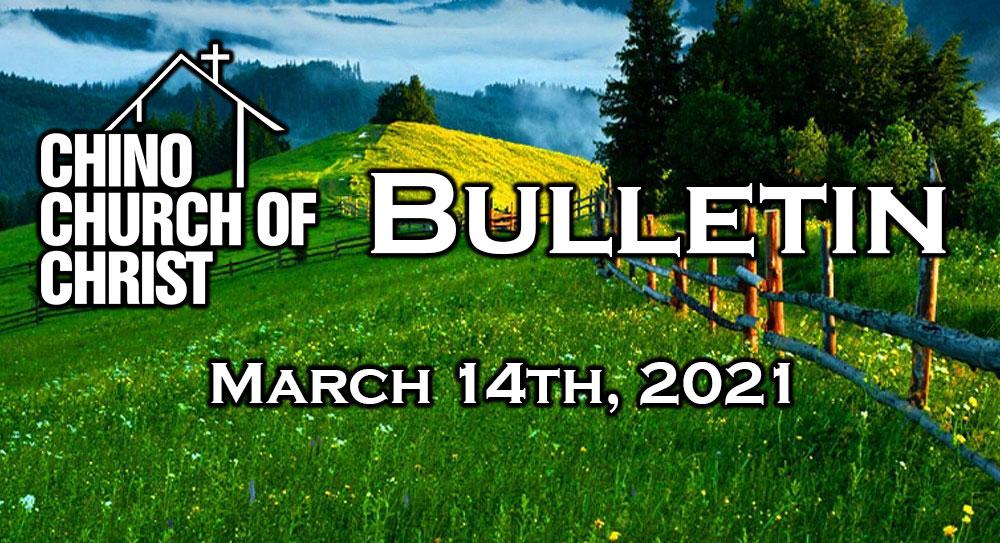 Bulletin – March 14th, 2021